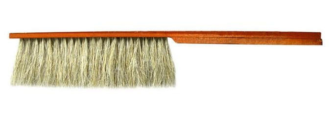 Single Row Bristle or Horsehair Red Paintting Wood Handle Bee Brush